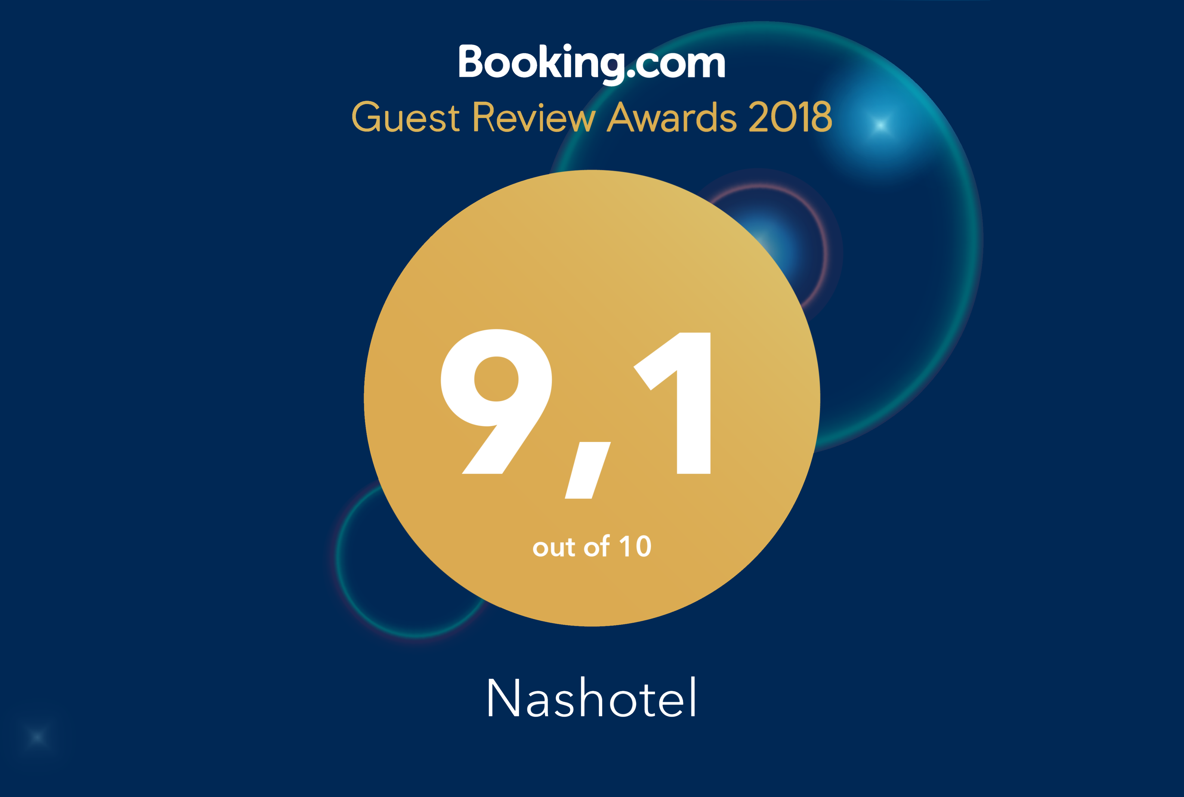 Award from Booking.com!